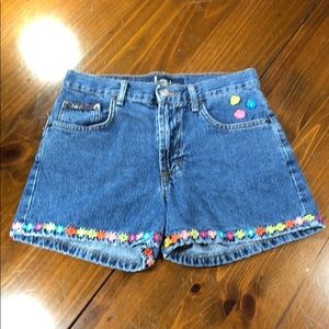 L.E.I. Flowered Jean Shorts Girls